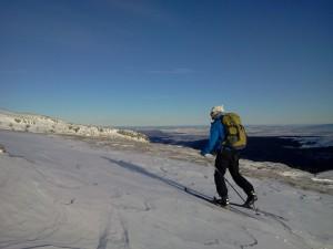 Matthias en ski de randonnee nordique